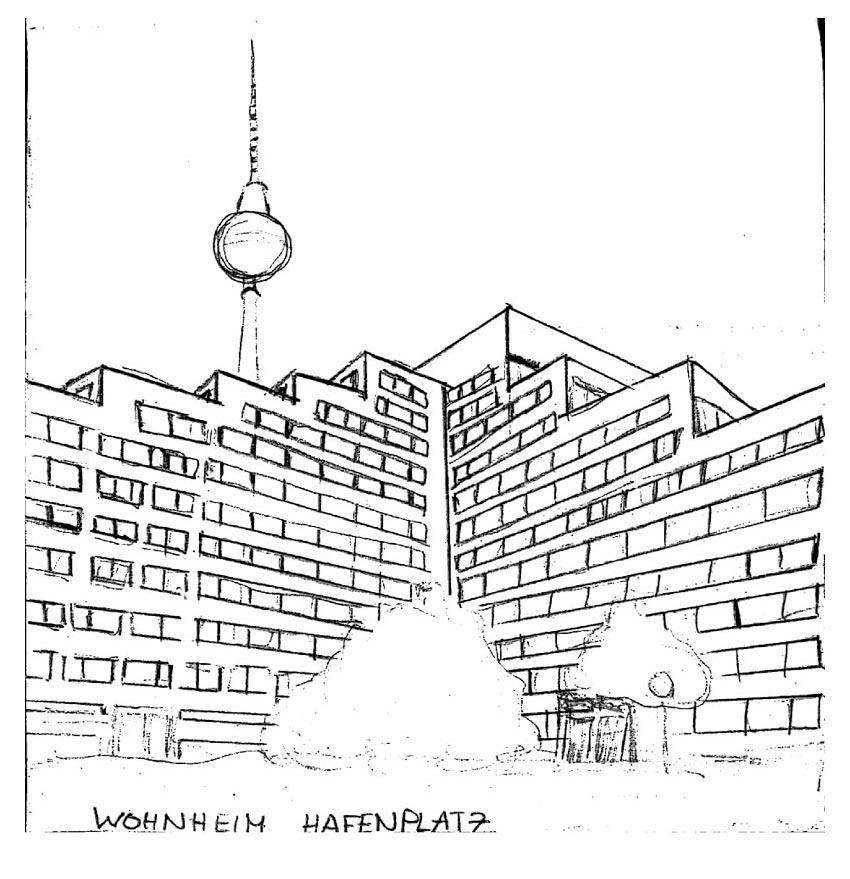 Zeichnung-Wohnheim