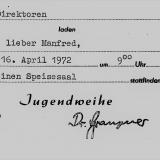 Einladung Jugendweige 1972